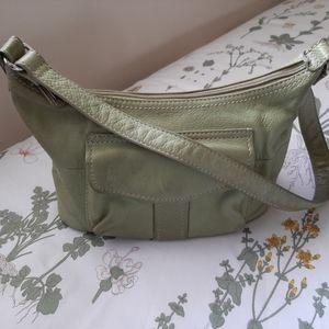 Green Fossil handbag